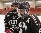 Garnet Hathaway (Brown - 23), Matt Lorito (Brown - 19) - The visiting Brown University Bears defeated the Harvard University Crimson 2-0 on Saturday, February 22, 2014 at the Bright-Landry Hockey Center in Cambridge, Massachusetts.