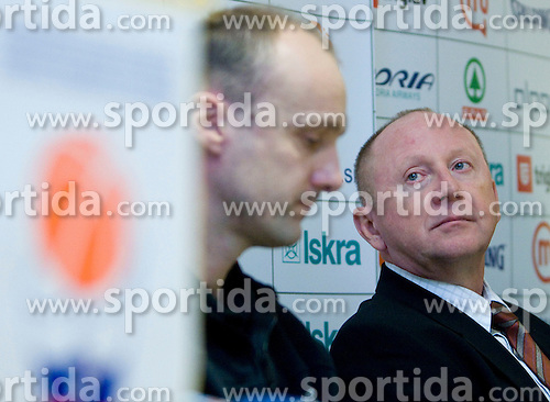 Dusan Sesok at press conference when announced that Zdovc is a new Slovenian Head coach of Basketball National team, on November 25, 2008 in City Hotel, Ljubljana, Slovenia.  (Photo by Vid Ponikvar / Sportida).