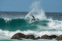 Snapper Rocks, Coolangatta Queensland Australia (Monday, March 14 2016): Kanoa Igarashi (USA) - Round Two of the first WCT event of the year, the Quiksilver Pro Gold Coast, was completed this morning followed by Round Three and two heats of Round Four.  The upsets continued with the Tour Rookies taking out out a good proportion of the heats with Stu Kennedy(AUS) again showing great form by defeating Gabriel Medina (BRA). The event was put on hold for over 2 hours while organisers waited for the tide to drop. The surf was in the 4'-5' range most of the day.Photo: joliphotos.com