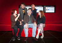 ***NO FEE PIC ***<br /> 05/06/2013 <br /> Back Row (L to R) Jury Member Nicky Phelan &amp;  Jury Member John Kelleher Former Director IFCO<br /> Front Row (L to r) Director of No Enemies Trish McAdam who was nominated for her film, Jim McLoughlin Head of Communications of Frontline Defenders &amp; Jury Member  Kirsten Sheridan  during  the shortlist for the 5th annual Irish Council for Civil Liberties Human Rights Film awards at  the IFCO in Smith field, Dublin.<br /> Photo:  Gareth Chaney Collins