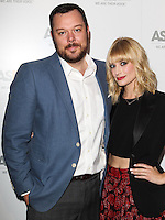 BEVERLY HILLS, CA, USA - MAY 06: Michael Gladis, Beth Behrs at The American Society For The Prevention Of Cruelty To Animals Celebrity Cocktail Party on May 6, 2014 in Beverly Hills, California, United States. (Photo by Celebrity Monitor)