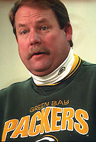 Green Bay Packers Coach Mike Holmgren during a post-game press conference.