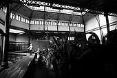 Wroclaw, Poland, April 4, 2009:<br /> Monika Mielewska and her son Kuba at the &quot;Pavillion for Hippos, Elephants and Tapirs&quot; in Wroclaw Zoo.  (Photo by Piotr Malecki / Napo Images)..Monika Mielewska i jej syn Kuba w Zoo, w pawilonie dla hipopotamow, sloni i tapirow..Wroclaw, Kwiecien 2009.Fot: Piotr Malecki / Napo Images