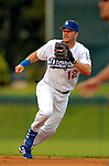19 March 2006: Jeff Kent, infielder for the Los Angeles Dodgers, shags a drive during a Spring Training game against the Washington Nationals at Holeman Stadium, in Vero Beach, Florida. The Dodgers defeated the Nationals 9-1 in Grapefruit League play...Mandatory Photo Credit: Ed Wolfstein Photo..