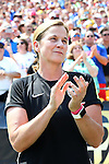 16 August 2015: U.S.head coach Jill Ellis (ENG). The United States Women's National Team played the Costa Rica Women's National Team at Heinz Field in Pittsburgh, Pennsylvania in an women's international friendly soccer game. The U.S. won the game 8-0.