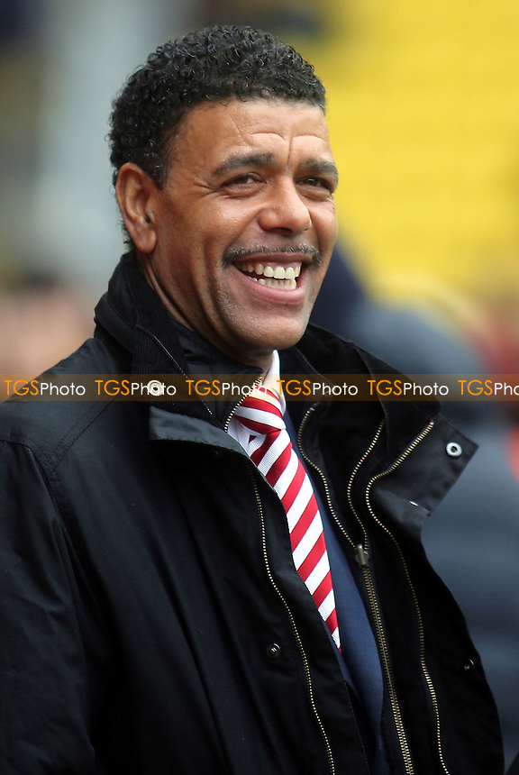 Chris Kamara was at the match working for Sky Sports - Watford vs Ipswich Town - Sky Bet Championship Football at Vicarage Road Stadium, Watford, Hertfordshire - 21/03/15 - MANDATORY CREDIT: Paul Dennis/TGSPHOTO - Self billing applies where appropriate - contact@tgsphoto.co.uk - NO UNPAID USE