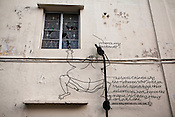 An artists' explanation of 'Love Lane' in the UNESCO heritage town - Georgetown of Penang, Malaysia. Photo: Sanjit Das/Panos