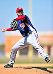 1 March 2010: Washington Nationals' relief pitcher Brian Bruney takes practice during Spring Training at the Carl Barger Baseball Complex in Viera, Florida. Mandatory Credit: Ed Wolfstein Photo