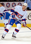 9 December 2006: Montreal Canadiens defenseman Mark Streit (32) of Switzerland warms up prior to a game against the Buffalo Sabres at the Bell Centre in Montreal, Canada. The Sabres defeated the Canadiens 3-2 in a shootout, taking their third contest in the month of December. Mandatory Photo credit: Ed Wolfstein Photo<br />  *** Editorial Sales through Icon Sports Media *** www.iconsportsmedia.com