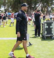 Stanford, CA - April15, 2017:  Coach David Shaw at Cagan Stadium.