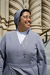 St. Peter and Paul's Church is located in San Francisco's North Beach neighborhood directly adjacent to Washington Square Park. Sister Margaret Natal is pictured.