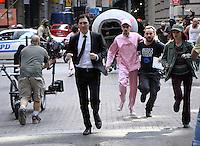 NEW YORK, NY-July 24: Paul Dano, Devon Bostick Daniel Henshall, Lily Collins shooting  on location for Netflix & Plan B Enterainment  film Okja in New York. NY July 24, 2016. Credit:RW/MediaPunch