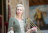 Gabriel <br /> by Samuel Adamson <br /> at Shakespeare's Globe Theatre, London, Great Britain <br /> press photocall<br /> 12th July 2013 <br /> <br /> <br /> Alison Balsom <br /> Creative Producer and First Trumpet <br /> <br /> plus cast <br /> <br /> <br /> Photograph by Elliott Franks