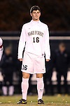 12 November 2013: Wake Forest's Ian Harkes. The Wake Forest University Demon Deacons hosted the University of Virginia Cavaliers at Spry Stadium in Winston-Salem, North Carolina in a 2013 NCAA Division I Men's Soccer match and the quarterfinals of the Atlantic Coast Conference tournament. Virginia won the game 1-0 in overtime.