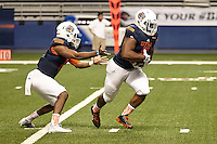 SAN ANTONIO, TX - APRIL 23, 2016: The University of Texas at San Antonio Roadrunners hold their Sixth Annual UTSA Football Fiesta Spring Game at the Alamodome. (Photo by Jeff Huehn)