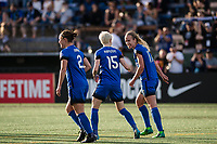 Seattle, WA - Sunday, May 21, 2017: Seattle Reign FC during a regular season National Women's Soccer League (NWSL) match between the Seattle Reign FC and the Orlando Pride at Memorial Stadium.