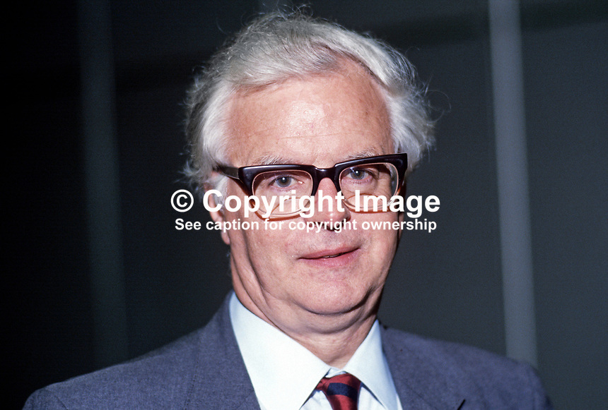 Bruce Millan, MP, Labour Party, UK, 19870924BM.<br /> <br /> Copyright Image from Victor Patterson, 54 Dorchester Park, Belfast, UK, BT9 6RJ<br /> <br /> t1: +44 28 9066 1296 (from Rep of Ireland 048 9066 1296)<br /> t2: +44 28 9002 2446 (from Rep of Ireland 048 9002 2446)<br /> m: +44 7802 353836<br /> <br /> e1: victorpatterson@me.com<br /> e2: victorpatterson@gmail.com<br /> <br /> The use of my copyright images is subject to my Terms &amp; Conditions.<br /> <br /> It is IMPORTANT that you familiarise yourself with them. They are available on my website at www.victorpatterson.com.<br /> <br /> None of my copyright images may be used on a website unless they are visibly watermarked, i.e. &copy; Victor Patterson within the body of the visible image. Metadata denoting my copyright must NOT be deleted. <br /> <br /> Web use (maximum size - 400 kb) is extra at currently recommended NUJ rates.