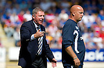 St Johnstone v Rangers... 30.07.11   SPL Week 2.Ally McCoist rages at his players as asst Kenny McDowall looks on.Picture by Graeme Hart..Copyright Perthshire Picture Agency.Tel: 01738 623350  Mobile: 07990 594431