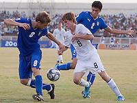 Alex Shinsky. Italy defeated the US Under-17 Men's National Team 2-1 in Kaduna, Nigera on November 4th, 2009.