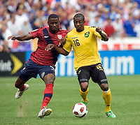 Maurice Edu (7) of the USMNT fights for the ball with Omar Daley (16) of Jamaica at RFK Stadium in Washington, DC.  The USMNT defeated Jamaica, 2-0.