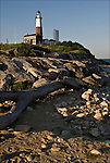 Montauk Point Lighthouse Museum 1796, New York Eastern Tip of Long Island. .Fourth oldest lighthouse in the United States