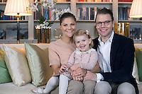 Princess Victoria, Prince Daniel & Princess Estelle of Sweden wish a Merry Christmas - Sweden