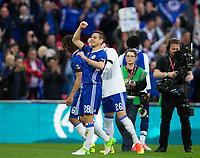 Chelsea's Cesar Azpilicueta celebrates his sides victory     <br /> <br /> <br /> Photographer Craig Mercer/CameraSport<br /> <br /> Emirates FA Cup Semi-Final - Chelsea v Tottenham Hotspur - Saturday 22nd April 2017 - Wembley Stadium - London<br />  <br /> World Copyright &copy; 2017 CameraSport. All rights reserved. 43 Linden Ave. Countesthorpe. Leicester. England. LE8 5PG - Tel: +44 (0) 116 277 4147 - admin@camerasport.com - www.camerasport.com