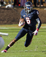 Oct. 22, 2011 - Charlottesville, Virginia - USA; Virginia Cavaliers wide receiver Darius Jennings (6) runs the ball during an NCAA football game against the North Carolina State Wolfpack at the Scott Stadium. NC State defeated Virginia 28-14. (Credit Image: © Andrew Shurtleff/