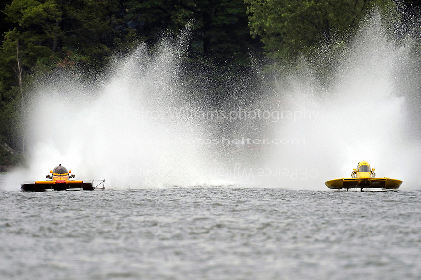 "Dan Kanfoush, NM-357 ""Old Crow""  and Thom Heins, NM-30 ""Pennzoil Big Bird"" (National Mod hydroplane(s)"
