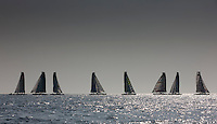 8th October  2010. Almeria. Spain..Pictures of the fleet of Extreme 40 multihulls in action during the press day.
