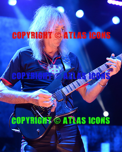 HOLLYWOOD FL - OCTOBER 30 : Glenn Tipton of Judas Priest performs at Hard Rock Live held at the Seminole Hard Rock Hotel & Casino on October 30, 2014 in Hollywood, Florida. : Credit Larry Marano (C) 2014
