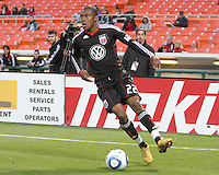 Rodney Wallace #22 of D.C. United during a US Open Cup match against F.C. Dallas on April 28 2010, at RFK Stadium in Washington D.C. United won 4-2.