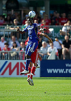 05 June 2010: Kansas City Wizards forward Kei Kamara #23 in action during a game between the Kansas City Wizards and Toronto FC at BMO Field in Toronto..The game ended in a 0-0 draw.