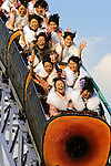 Kimono-clad 20-year-old Japanese women enjoy a ride on the big dipper during an event to mark Coming-of-Age Day at Toshimaen amusement park in Tokyo, Japan on Monday Jan. 11, 2009. Japanese enter adulthood at 20, when they can legally smoke, drink alcohol and vote, though debate is heating up as to whether or not the age should be lowered to 18 in line with many advanced countries. Indeed, the Japanese government plans to lower the voting age to 18 as of mid-2010.   .Photographer: Robert GilhoolyKimono-clad 20-year-old Japanese women enjoy a ride on a roller-coaster during an event to mark Coming-of-Age Day at an amusement park in Tokyo, Japan on Monday Jan. 11, 2009. Japanese enter adulthood at 20, when they can legally smoke, drink alcohol and vote, though debate is heating up as to whether or not the age should be lowered to 18 in line with many advanced countries. Indeed, the Japanese government plans to lower the voting age to 18 as of mid-2010.   .Photographer: Robert GilhoolyCOMING OF AGE