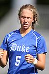 09 September 2011: Duke's Kaitlyn Kerr. The Duke University Blue Devils defeated the Texas A&M Aggies 7-2 at Koskinen Stadium in Durham, North Carolina in an NCAA Division I Women's Soccer game.