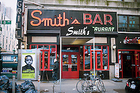 B. Smith's Bar and Restaurant in Midtown in New York is seen on Thursday, November 24, 2011. The iconic establishment, which was one of the pioneers in reviving the neighborhood, may be forced to close its doors because of a proposed rent increase by its landlord, Local 1 of the stagehands union. (© Richard B. Levine)