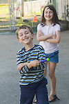 Berkeley CA Happy siblings, ages five and seven MR
