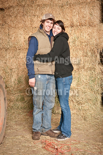 Families gather after Christmas at the Cuneo Ranch in California's Mother Lode. Matley and Mandy.
