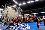 21 APR 2012:  The University of Alabama celebrates their victory during the Division I Women's Gymnastics Championship held at the Gwinnett Center Arena in Duluth, GA. Alabama placed first with a team score of 197.850. Joshua Duplechian/NCAA Photos