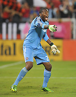 Sean Johnson (25) of the Chicago Fire.  The Chicago Fire defeated D.C. Untied 3-0, at RFK Stadium, Friday October 4 , 2013.