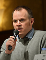 Marc Webb, Jun 13, 2012 : Tokyo, Japan - Film director Marc Webb speaks at a news conference in Tokyo on Wednesday, June 13, 2012. Webb was in town along with American film stars Emma Stone, Andrew Garfield and Rhys Ifans to promote a June 23 world premiere of  his own movie The Amazing Spider-Man.  (Photo by Natsuki Sakai/AFLO)