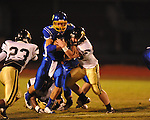 Oxford High's Parker Adamson (3) vs. New Hope in high school football in Oxford, Miss. on Friday, September 28, 2012. Oxford won 29-17 to improve to 6-0.