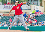 10 March 2015: Washington Nationals pitcher Heath Bell on the mound during a Spring Training game against the Miami Marlins at Roger Dean Stadium in Jupiter, Florida. The Marlins edged out the Nationals 2-1 on a walk-off solo home run in the 9th inning of Grapefruit League play. Mandatory Credit: Ed Wolfstein Photo *** RAW (NEF) Image File Available ***