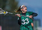 30 March 2016: Manhattan College Jasper Attacker Maddie Regal, a Sophomore from Ellicott City, MD, in action against the University of Vermont Catamounts at Virtue Field in Burlington, Vermont. The Lady Cats defeated the Jaspers 11-5 in non-conference play. Mandatory Credit: Ed Wolfstein Photo *** RAW (NEF) Image File Available ***