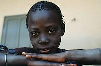 Senegal. Dakar. Young girl at home.  © 2000 Didier Ruef