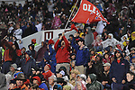 Ole Miss fans wave a flag vs. Mississippi State in Starkville, Miss. on Saturday, November 26, 2011. Mississippi State won 31-3.