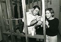 1975 October..Hands on home ownership training at Wellington Oaks..Millard Arnold.NEG#.NRHA#..