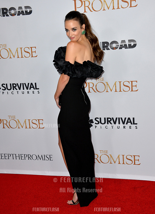 Charlotte Le Bon at the premiere for &quot;The Promise&quot; at the TCL Chinese Theatre, Hollywood. Los Angeles, USA 12 April  2017<br /> Picture: Paul Smith/Featureflash/SilverHub 0208 004 5359 sales@silverhubmedia.com