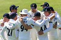 Essex players huddle during Essex CCC vs Hampshire CCC, Specsavers County Championship Division 1 Cricket at The Cloudfm County Ground on 21st May 2017