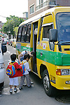 Getting On School Bus